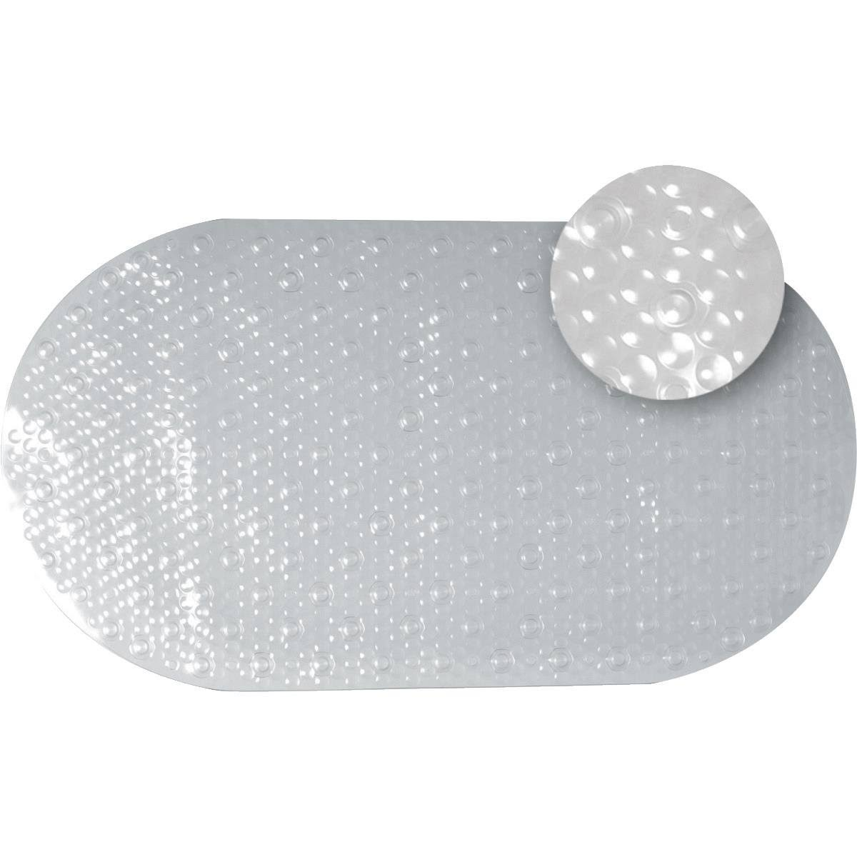 "Zenna Home Bubble Suction Mount Vinyl Bath Mat - Clear, 15.75"" x 27.5"""