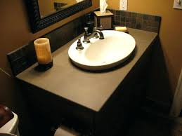 Install Overmount Bathroom Sink by Overmount Bathroom Sink Above Drop In Sinks By Standard Install