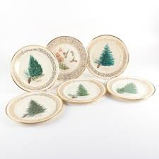 Lenox Christmas Tree And Boehm Birds Collectible Plates