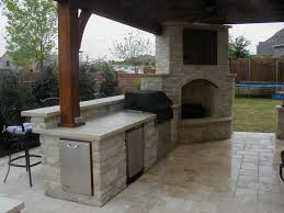 Amazing Outdoor Kitchen And Fireplace Designs H56 About Small Home