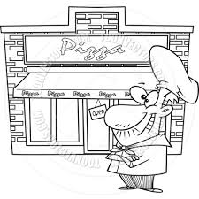 28 Collection Of Pizza Shop Drawing