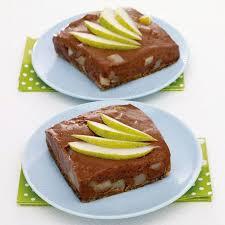 birnen pudding torte