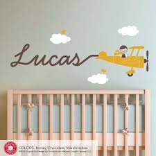 Inspirational Baby Boy Wall Art Or 15 Nursery Decor Children Airplane Decal Skywriter Canvas