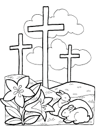Easter Coloring Pages Printable Preschool Inside Religious 5 Happy