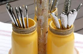 DIY Rustic Mason Jar Utensil Holder