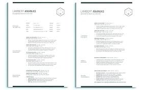 Two Page Resume Template Free Also Clean To Frame Perfect One Google Docs Best 2 Templates