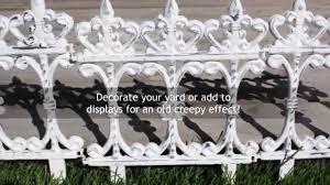 Halloween Cemetery Fence Diy by Diy Halloween Decor Vintage Fence Youtube