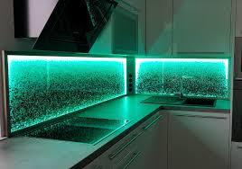 kitchen splashback led light dim change colours glaszone