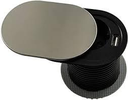 gedotec tisch steckdose versenkbar einbau steckdose edelstahl schwarz schreibtisch küche slidebox möbel steckdose mit 1x schuko stecker