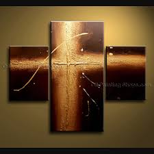 modern abstract painting wall cross on canvas