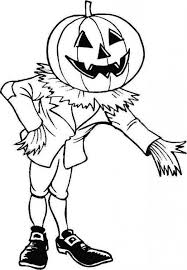 Scary Halloween Pumpkin Coloring Pages by Scary Halloween Pumpkin Invite Us To Enter His House Coloring Page
