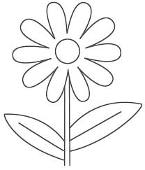 Simple Flower Coloring Pages 20 NewcardesktopwallpaperFree Printable Zaa