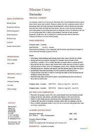 Resume Examples Bartender ResumeExamples Cv Job