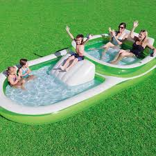 Family Pool With Slide