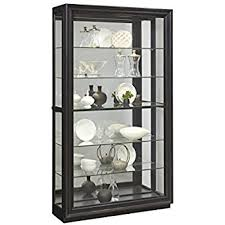 Pulaski Glass Panel Display Cabinet by Amazon Com Pulaski Sliding Front Wine Curio Cabinet Brown