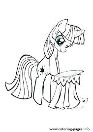 Twilight My Little Pony Coloring Page Pages Princess Printable Lovely