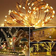 Innotree LED String Lights 33ft 100 LED USB Plug In Fairy Lights 8 Modes Dimmable Copper Wire Lights With Remote Control For Bed Patio Parties