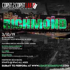 100 Game Truck Richmond Va Coast 2 Coast LIVE All Ages 31019 10 MAR 2019
