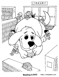 Clifford In Library The Big Red Dog Coloring Pages Great Way To Tie