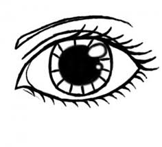 simple eye clipart black and white OurClipart