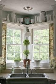 Kitchen Curtain Ideas Above Sink by Best 25 Corner Window Treatments Ideas On Pinterest Corner