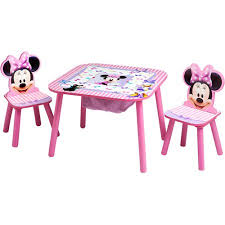 Disney Minnie Mouse Storage Table and Chairs Set Walmart