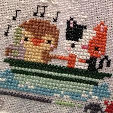 Frosted Pumpkin Stitchery Kit by Cross Stitch Archives Creative Madness Mama