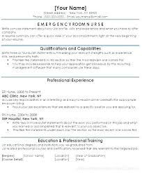 Resume Objective Examples Registered Nurse For Clinic Emergency Er Sample Resumes