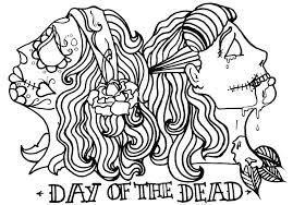 Day Dead Skull Coloring Pages Adults