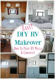 Easy RV Remodeling Makeover With Instructions To Remodel Interior Paint Walls