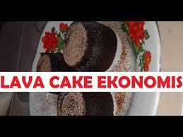4 tahap cara membuat lava cake kukus ekonomis