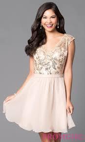 short v neck lace bodice a line party dress promgirl