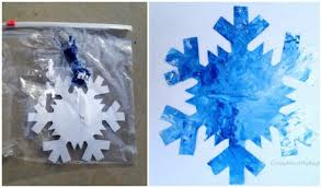 Mess Free Painted Snowflakes