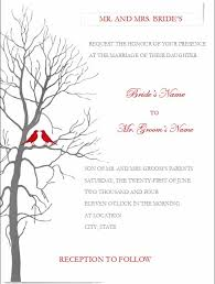 Fall Wedding Invitation Templates Blank
