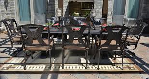 Cast Aluminum Patio Sets by Grand Tuscany 8 Seat Luxury Cast Aluminum Dining Set By Hanamint