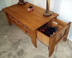 Diy Gun Cabinet Plans by Gun Case Coffee Table Plans Coffee Addicts