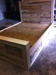 Diy Pallet Bed With Storage Ideas Image And Headboard Furniture