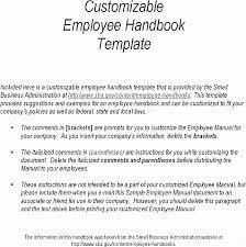 Free Employee Handbook Template Pdf Elegant Andresbedoya