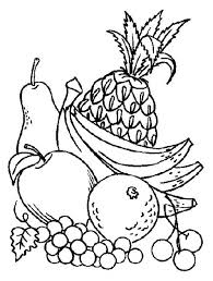 Best Ideas Of Coloring Pictures Fruits And Veggies Also Letter