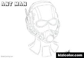 Ant Man Coloring Pages Head Sketch By Page