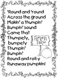Poems About Halloween For Adults by Pumpkin Poem From Runaway Pumpkin Book Teacher Ideas Pinterest