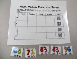 mode median and range median mode range qr code activity teach junkie