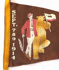 California Flag Font Luxury 1914 Nsgw Admission Day Pennant Bear Museum