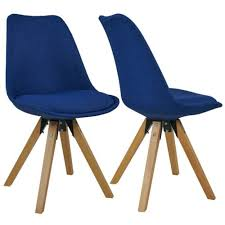 stühle stuhl esszimmerstuhl küchenstuhl 2er set blau holz