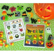 Halloween Perler Bead Projects by Halloween Bingo Perler Beads