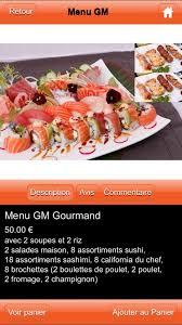 sushi gm home mulhouse menu prices restaurant