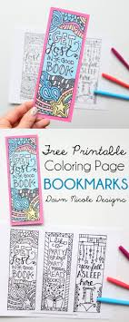 Free Printable Coloring Page Bookmarks