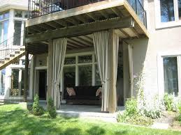 fantastic outdoor curtains for patio also interior home design