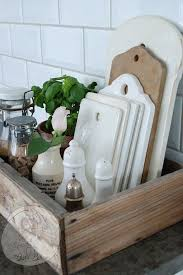 Awesome Rustic Kitchen Caddy Reclaimed Wood Style Tray
