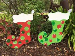 Christmas Yard Art Stockings Decorations Decor